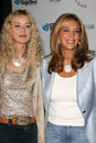 Denise rich sharon stone and at the press conference to announce the release of the hurricane katrina relief single come together Royalty Free Stock Images