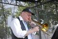 Denmark copenhagen jazz festival danish bank the spirit of new oreleans preben nissen leader and piano vocal and trombone carsten Royalty Free Stock Photo