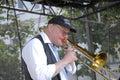 Denmark copenhagen jazz festival danish bank the spirit of new oreleans preben nissen leader and piano vocal and trombone carsten Royalty Free Stock Photography