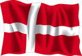 Denmark flag Royalty Free Stock Images