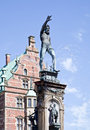 Denmark. Frederiksborg castle. Fountain  Neptune Royalty Free Stock Photo