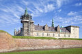 Denmark hamlet castle kronborg ancient on the shore of the strait of oresund in Royalty Free Stock Images