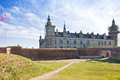 Denmark hamlet castle kronborg ancient on the shore of the strait of oresund in Stock Photography