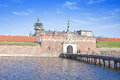 Denmark hamlet castle kronborg ancient on the shore of the strait of oresund in Royalty Free Stock Photography