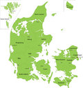 Denmark map Stock Photos