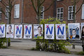Denmark no to european union copenhagen eruopean elections poster for parliament n and � are anti eurpean and vite agaist eu or Royalty Free Stock Photos