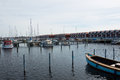 Denmark, Northern Jutland, Nibe. The towns marina/harbour with t Royalty Free Stock Photo