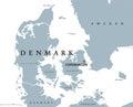 Denmark political map Royalty Free Stock Photo