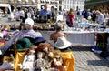 Denmark travel life copenhagen travlers and shoppers at staurdays flea market at kongen nytorv today july photo by francis dean Stock Photos