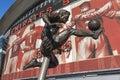 Dennis Bergkamp statue Arsenal Emirates Stadium Royalty Free Stock Photo