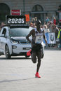 Dennis kimetto september berlin kenya the winner in a new world record time nd berlin marathon berlin Stock Photography