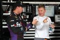 Denny Hamlin and Jeff Burton Stock Photography