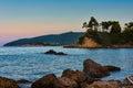 Denny wybrzeże grecka wyspa evia Zdjęcie Stock