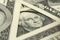 Denomination in one us dollar close up Stock Photo