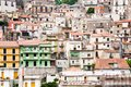 Dense houses in sicilian town Royalty Free Stock Photography