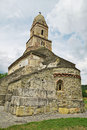 DensuÈ™ church st nicholas church romania the old and mysterious once a dacian temple is one of the oldest romanian churches still Royalty Free Stock Photo