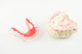 Dental brace and retainer Stock Photo
