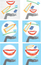 Dental care graphic showing good health Stock Photography