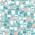 Dental Care Graphics On Blue B...