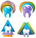 Dental care logo set Royalty Free Stock Photo