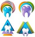 Dental care logo set
