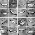 Dental care montage in black and white Stock Photos