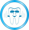 Dental clinic symbol with smile tooth Royalty Free Stock Images