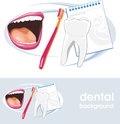 Dental concept icon and banner for design illustration Stock Images