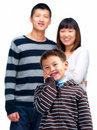 Dental - Happy asian child holding his cheek Royalty Free Stock Photo