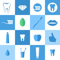 Dental hygiene icon set vector illustration eps Stock Photos