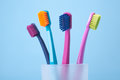 Dental hygiene - toothbrushes Stock Photography