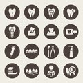 Dental icon set Stock Image