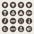 Dental icon set Royalty Free Stock Photo