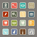 Dental Icons Stock Photos
