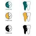Dental logo. Happy face icon. Stock Photos