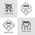 Dental logo set.
