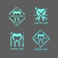 Dental logos set.