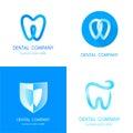 Dental logos templates. Abstract vector teeth. Royalty Free Stock Photo