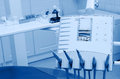 Dental office equipments blue tone Royalty Free Stock Photography