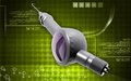 Dental polisher digital illustration of micro motor in colour background Royalty Free Stock Image