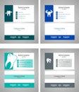 Dental set business card template - vector illustration