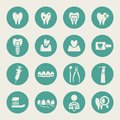 Dental theme flat icons Royalty Free Stock Photo
