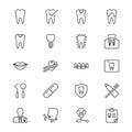 Dental thin icons