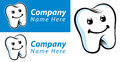Dental tooth logo a company showing a Royalty Free Stock Photo