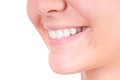Dentes que whitening. Cuidado dental Foto de Stock Royalty Free