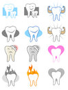 Dentist icon set dental tooth icons and symbols Royalty Free Stock Photo