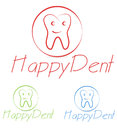 Dentist logo business concept illustration Royalty Free Stock Photography