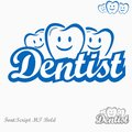 Dentist logo please look at my other logos icons Royalty Free Stock Photos