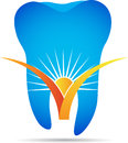 Dentist logo a vector drawing represents design Stock Photos