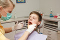 Dentist make anesthesia Royalty Free Stock Photos